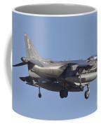 An Av-8b Harrier II Flying Over Yuma Coffee Mug