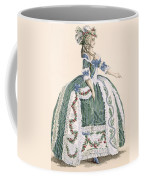 An Elaborate Royal Court Gown, Engraved Coffee Mug