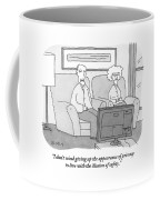 An Elderly Couple Watches Television Coffee Mug
