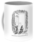 An Elf Arrives At A Child's Front Door Coffee Mug
