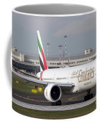 An Emirates Boeing 777 At Milano Coffee Mug