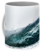 An Empty Wave Breaks Over A Shallow Reef Coffee Mug