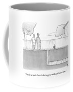 An Exterminator And Home-owner Look Coffee Mug by Paul Noth