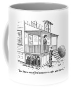 An Exterminator Points Out A Group Of Accountants Coffee Mug