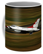 An F-16 Thunderbird Of The U.s. Air Coffee Mug