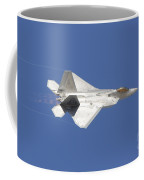 An F-22 Raptor In Flight Over Nellis Coffee Mug