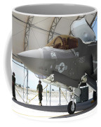 An F-35b Lightning II During Preflight Coffee Mug