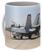 An Fa-18c Hornet Being Readied Coffee Mug