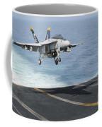 An Fa-18f Super Hornet Prepares To Land Coffee Mug
