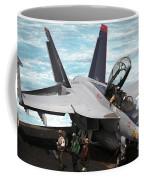 An Fa-18f Super Hornet Sits Coffee Mug by Stocktrek Images