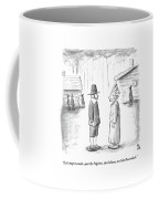 An Indian Chief Speaks To A Pilgrim Coffee Mug by Paul Noth