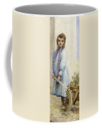 An Italian Peasant Girl Coffee Mug by Ada M Shrimpton