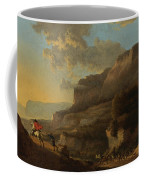 An Italianate Landscape With Travellers Ambushed By Bandits Coffee Mug