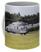 An Nh90 Helicopter Of The Italian Navy Coffee Mug