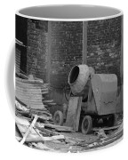 An Old Cement Mixer And Construction Material Coffee Mug