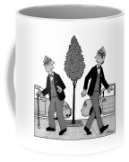 An Old Man And A Young Man Dressed Identically Coffee Mug