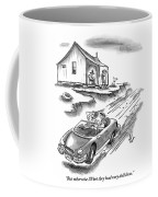 An Old Married Couple Sitting On Their Porch Coffee Mug