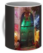 An Old Ornate Wooden Door In Paris France Coffee Mug