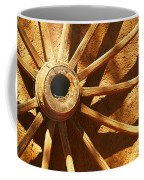 An Old Wagon Wheel In Carillos New Mexico Coffee Mug