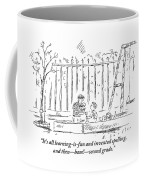 An Older Child Speaks To Younger Child Coffee Mug