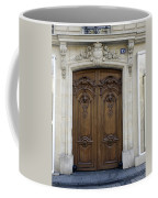 An Ornate Door On The Champs Elysees In Paris France   Coffee Mug