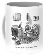 An Overweight Man Lazily Reclines On His Sofa Coffee Mug