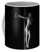Anaglyph Dark Crucifix Coffee Mug