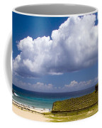 Anakena Beach With Ahu Nau Nau Moai Statues On Easter Island Coffee Mug