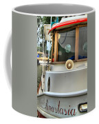 Anastasia Boating On Lake Erie Coffee Mug