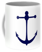 Anchor In Navy And White Coffee Mug