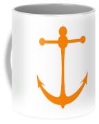 Anchor In Orange And White Coffee Mug