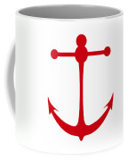 Anchor In Red And White Coffee Mug