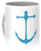 Anchor In Turquoise And White Coffee Mug