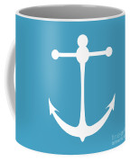 Anchor In White And Turquoise Blue Coffee Mug