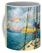 Anchored At Sunset Coffee Mug