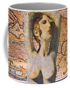 Ancient Middle East Map And Aphrodite Coffee Mug
