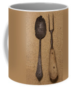 Ancient Spoon And Fork  Coffee Mug