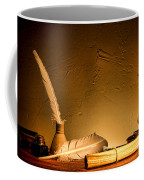 Ancient Texting Coffee Mug by Olivier Le Queinec