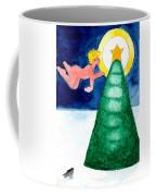 Angel And Christmas Tree Coffee Mug