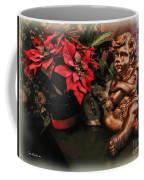 Angel And Poinsettia Coffee Mug