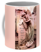 Angel Art - Memorial Angel Weeping Sorrow At Grave With Inspirational Message - Memories Are Forever Coffee Mug