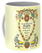 Angel Fraktur Painting Coffee Mug