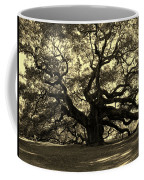 Angel Oak Tree Sepia Coffee Mug