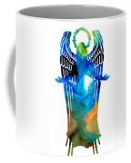 Angel Of Light - Spiritual Art Painting Coffee Mug