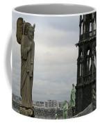 Angel Over Paris Coffee Mug