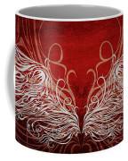 Angel Wings Crimson Coffee Mug