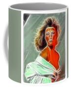 Angela Leather Red Fractal Coffee Mug