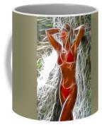 Angela Red Bikini Fractal Coffee Mug