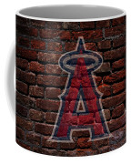 Angels Baseball Graffiti On Brick  Coffee Mug by Movie Poster Prints