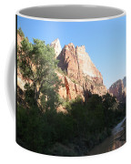 Angels Landing And Virgin River - Zion Np Coffee Mug